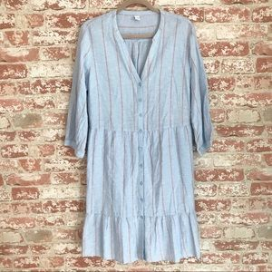 NEW Old Navy Chambray Linen T Shirt Dress